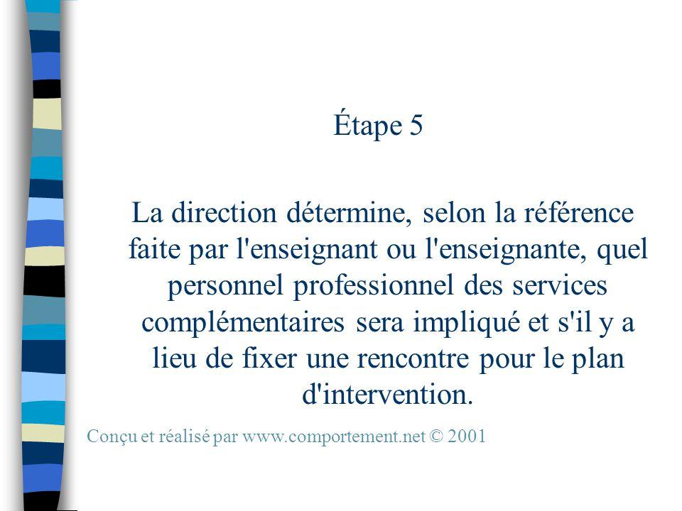 PHASE I LA RÉFÉRENCE Responsabilités des partenaires La démarche plus détaillée Conçu et réalisé par www.comportement.net © 2001