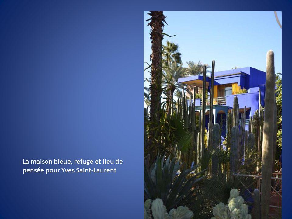 La maison bleue, refuge et lieu de pensée pour Yves Saint-Laurent