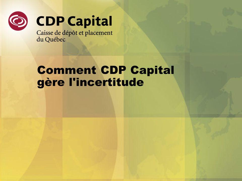 Comment CDP Capital gère l'incertitude