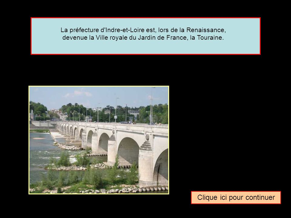 La capitale des châteaux de la Loire Quel surnom donne-t-on parfois à la ville de … Tours La capitale des vins de LoireLa capitale de la Loire