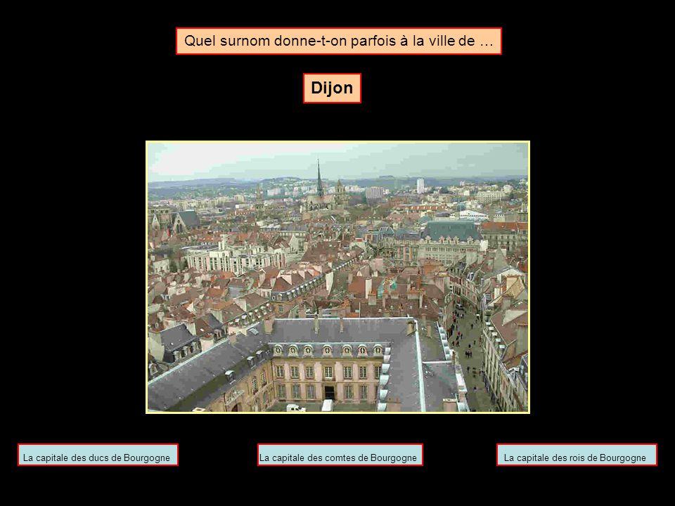 Quel surnom donne-t-on parfois à la ville de … Reims La cité des baptêmesLa cité des sacresLa cité des cérémonies