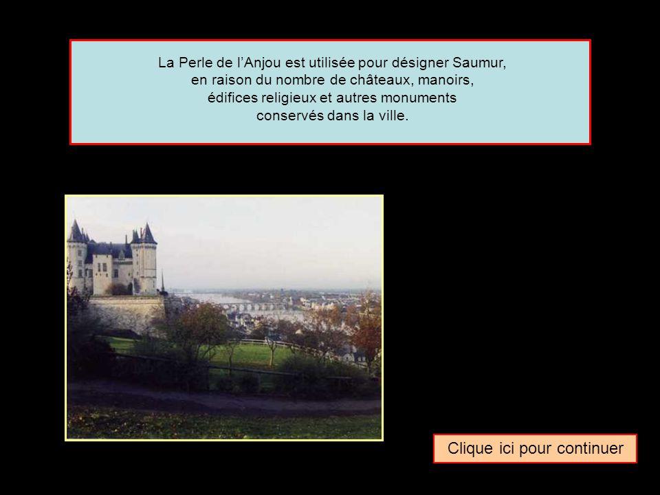 Quel surnom donne-t-on parfois à la ville de … Saumur Trésor de la Touraine Perle de l'Anjou Bijou des Pays de Loire