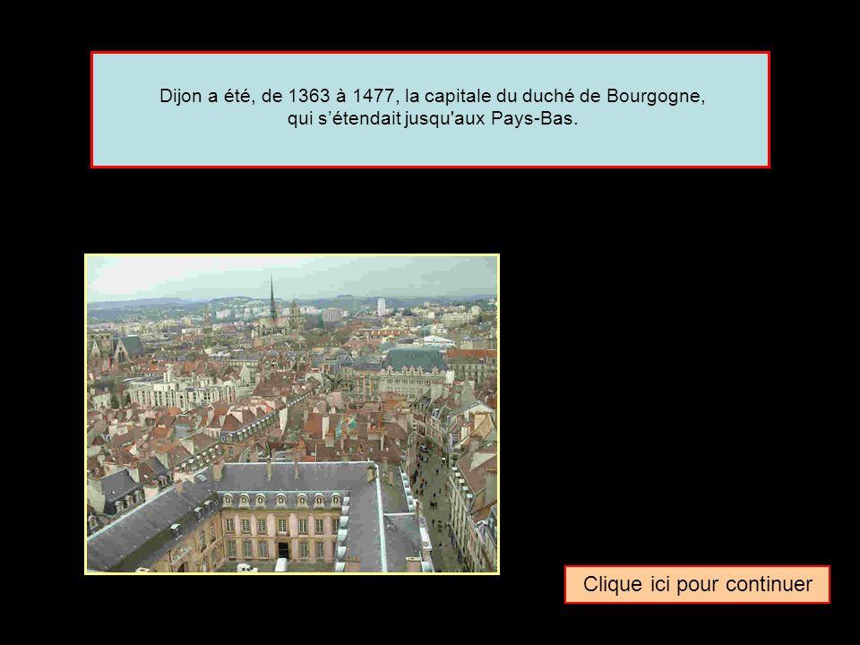 Quel surnom donne-t-on parfois à la ville de … Dijon La capitale des ducs de BourgogneLa capitale des rois de BourgogneLa capitale des comtes de Bourgogne