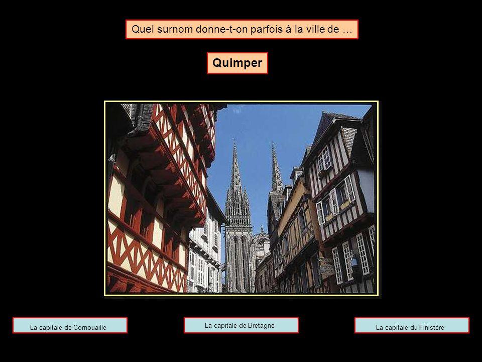 Quel surnom donne-t-on parfois à la ville de … Toulouse La ville rougeLa ville roseLa ville d'or
