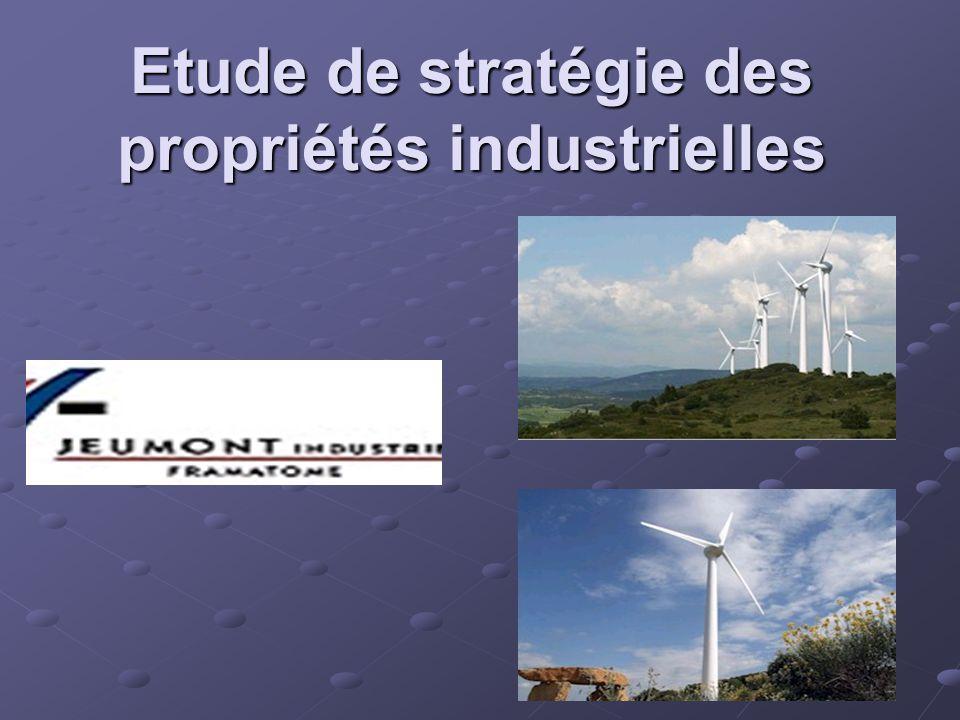 Etude de stratégie des propriétés industrielles