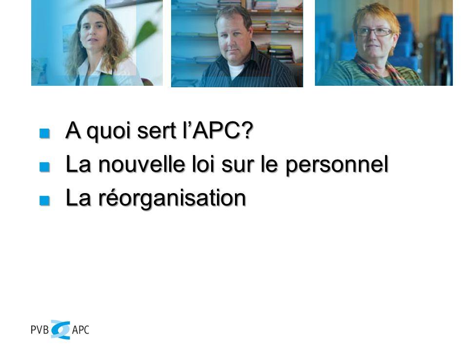 L'APC est le partenaire social le plus important de la Confédération et de ses institutions.