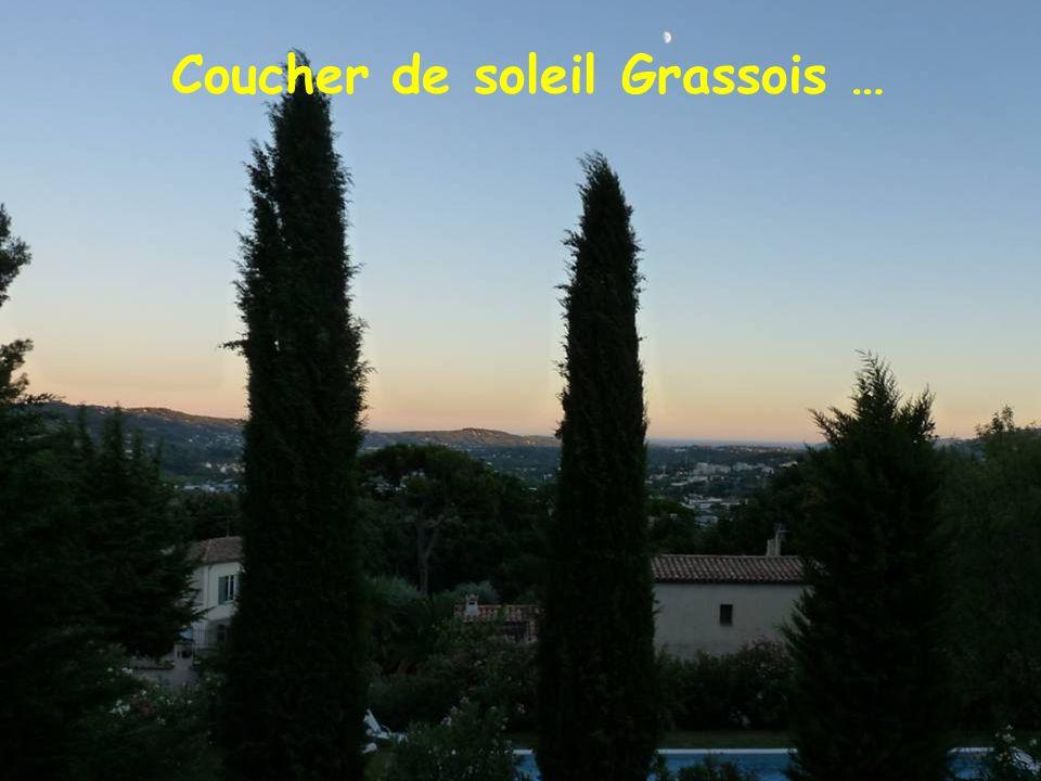 Coucher de soleil Grassois …
