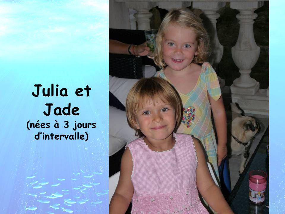 Julia et Jade (nées à 3 jours d'intervalle)