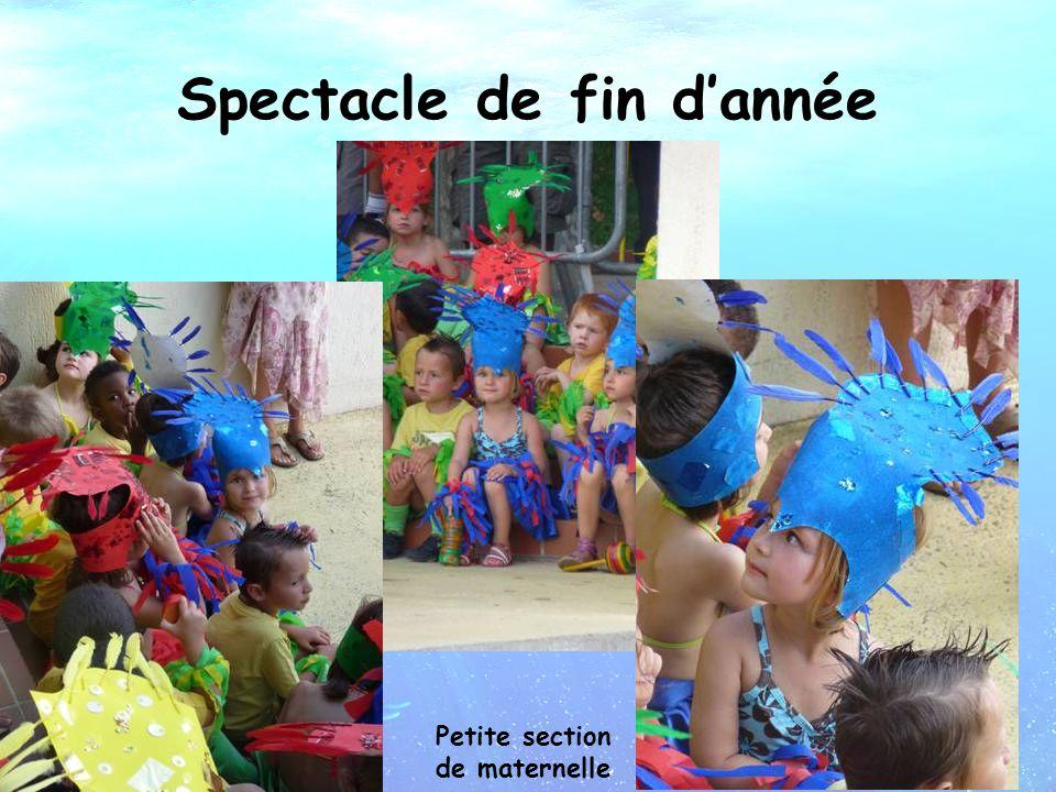 Spectacle de fin d'année Petite section de maternelle
