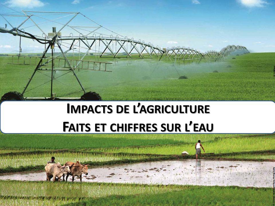 I MPACTS DE L ' AGRICULTURE F AITS ET CHIFFRES SUR L ' EAU