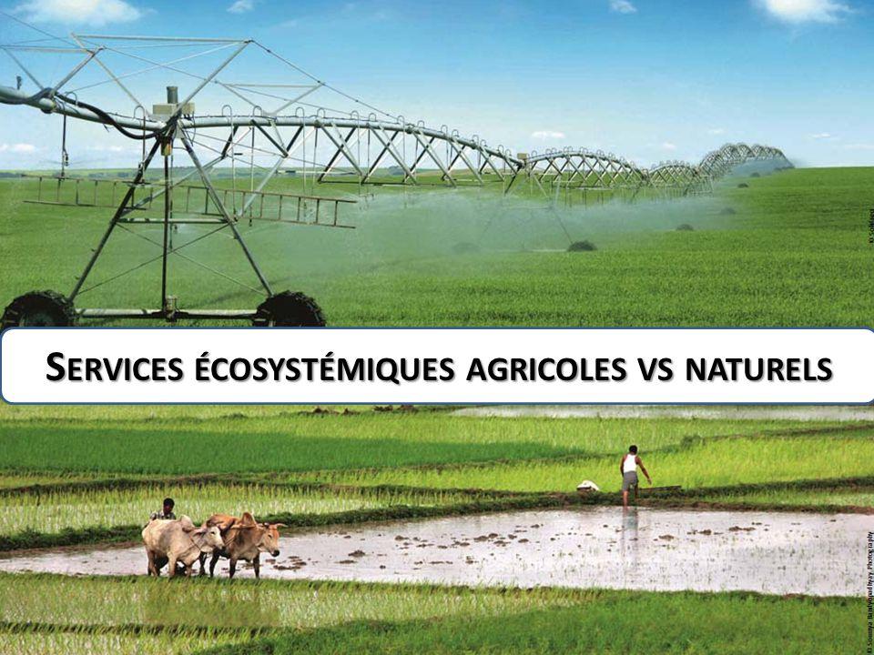 S ERVICES ÉCOSYSTÉMIQUES AGRICOLES VS NATURELS