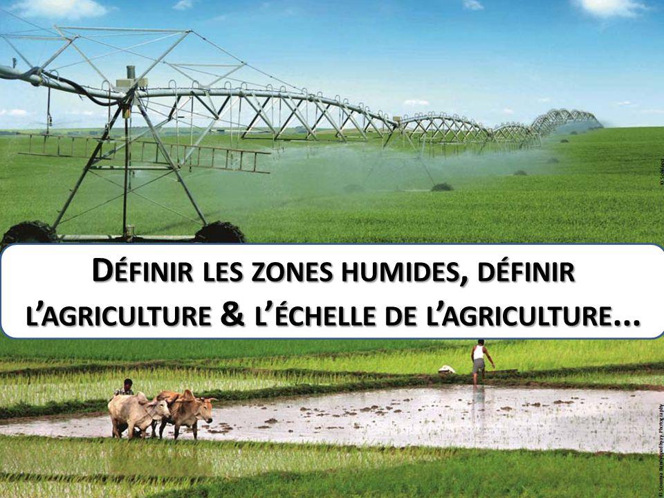D ÉFINIR LES ZONES HUMIDES, DÉFINIR L ' AGRICULTURE & L ' ÉCHELLE DE L ' AGRICULTURE...