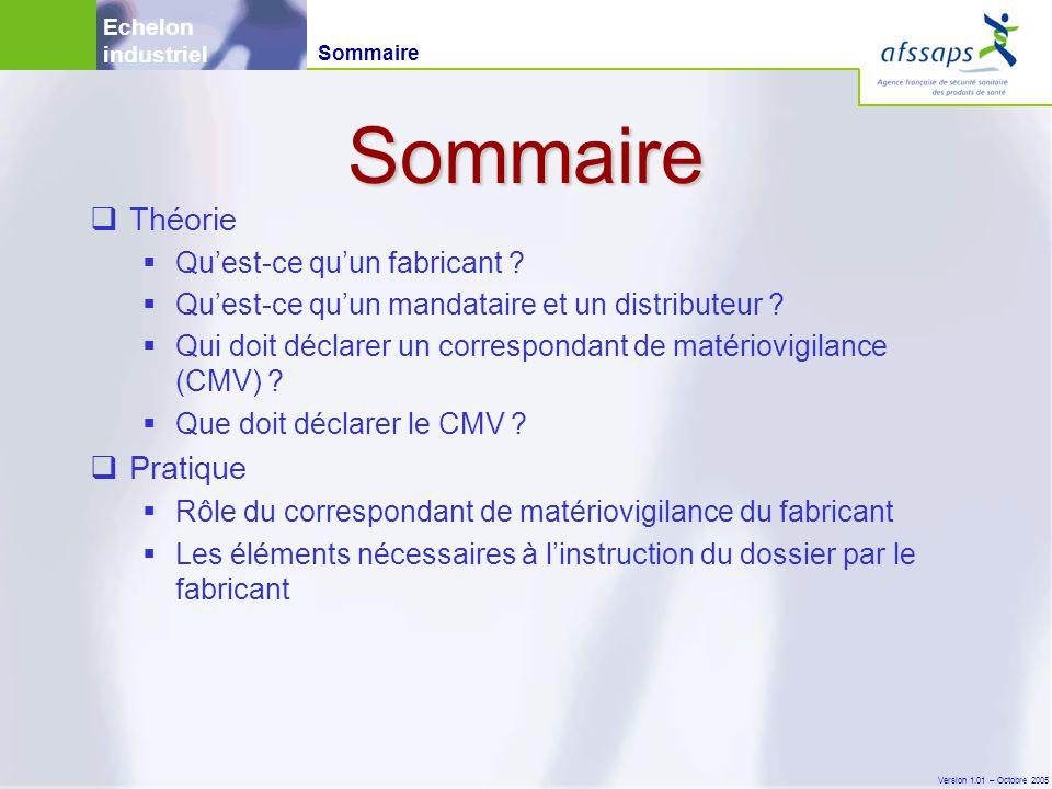 Version 1.01 – Octobre 2005  Théorie  Qu'est-ce qu'un fabricant .