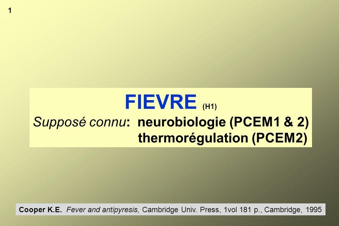 Rayonnement Evaporation Conduction Convection Metabolisme NutrimentsO2 36°5 - 37°5 Hyperthermie.