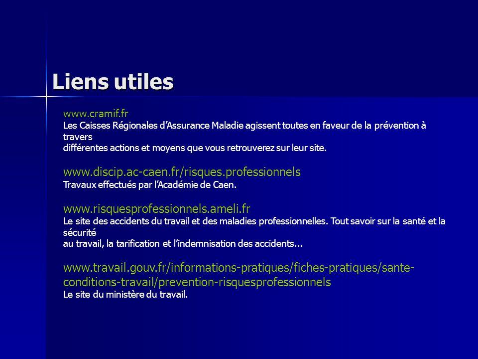 www.ac-versailles.fr/pedagogi/risques-pro Travaux effectués par l'Académie de Versailles.
