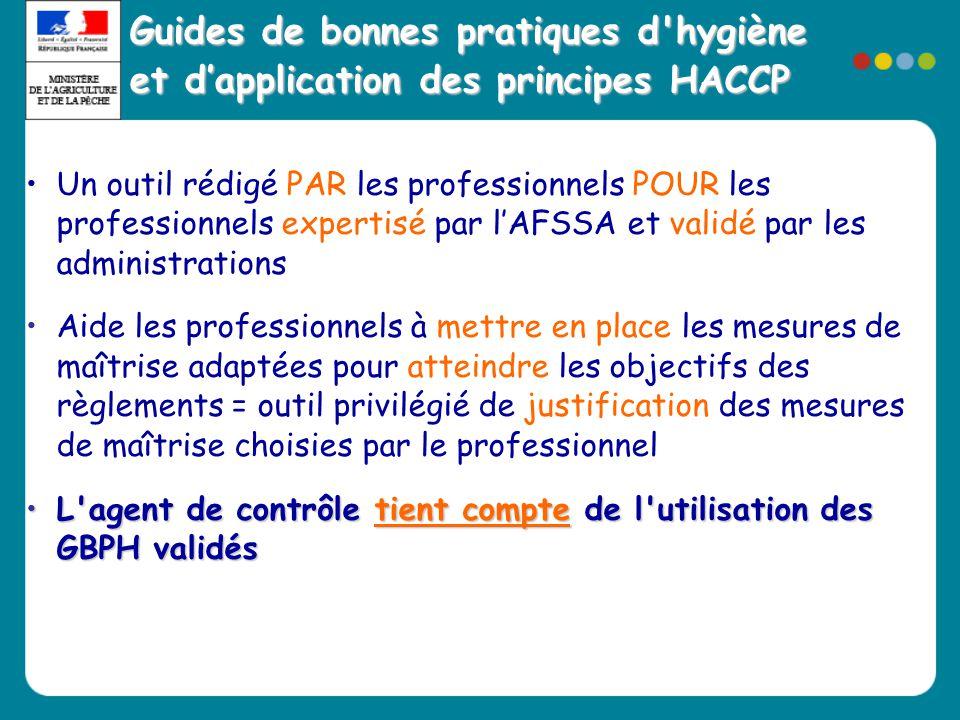 •Un outil rédigé PAR les professionnels POUR les professionnels expertisé par l'AFSSA et validé par les administrations •Aide les professionnels à met