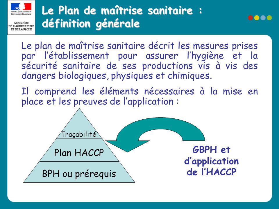 Le Plan de maîtrise sanitaire : définition générale Le plan de maîtrise sanitaire décrit les mesures prises par l'établissement pour assurer l'hygiène