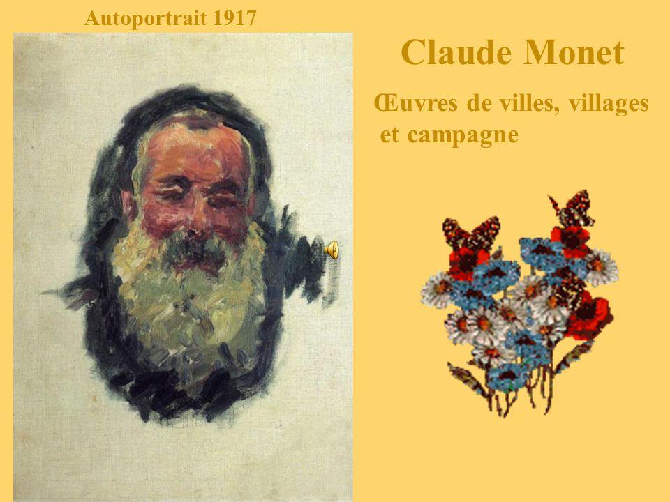 Autoportrait 1917 Claude Monet Œuvres de villes, villages et campagne