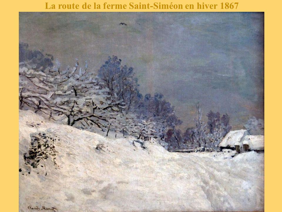 La route à la ferme Saint-Siméon en hiver 1867