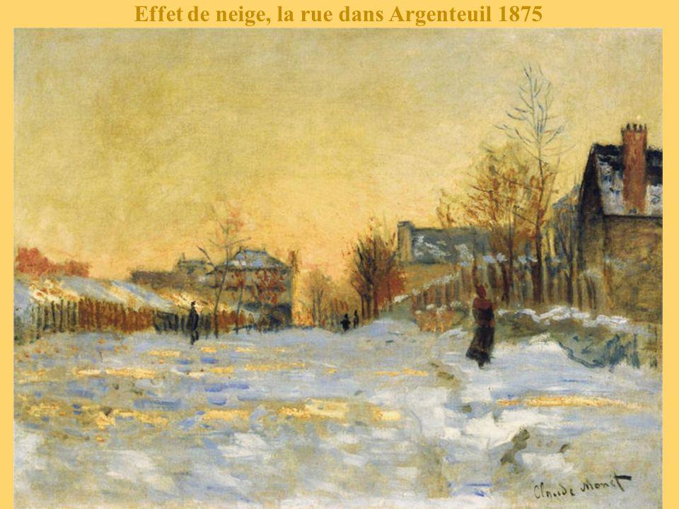 Boulevard Saint-Denis, Argenteuil en hiver 1875