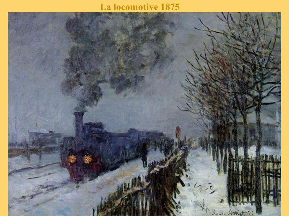 Effet de neige, la rue dans Argenteuil 1875