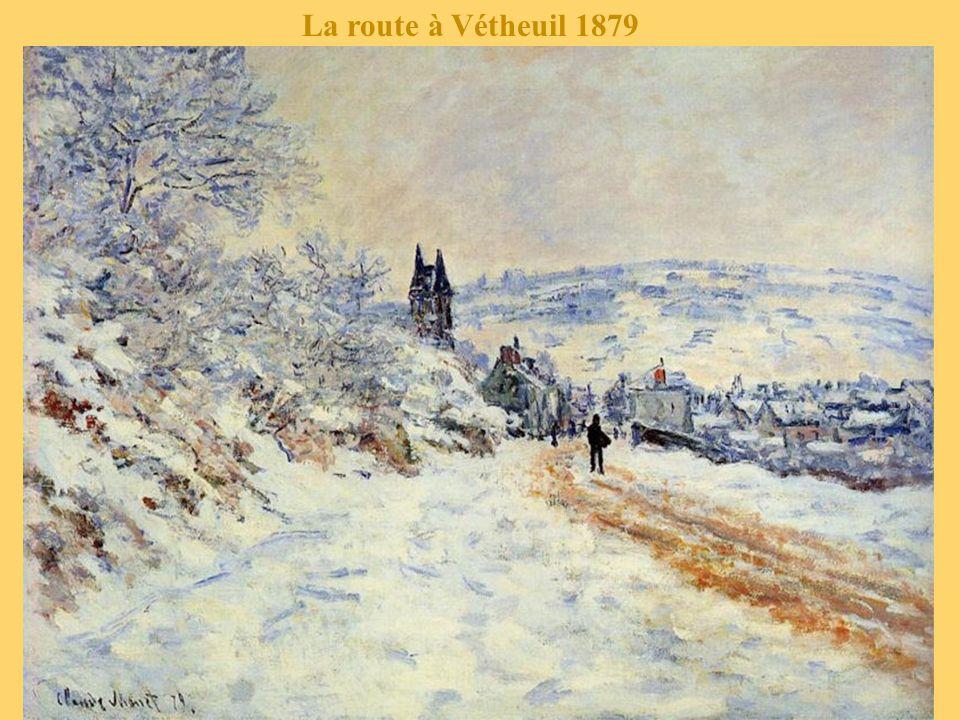 La route à Vétheuil 1878