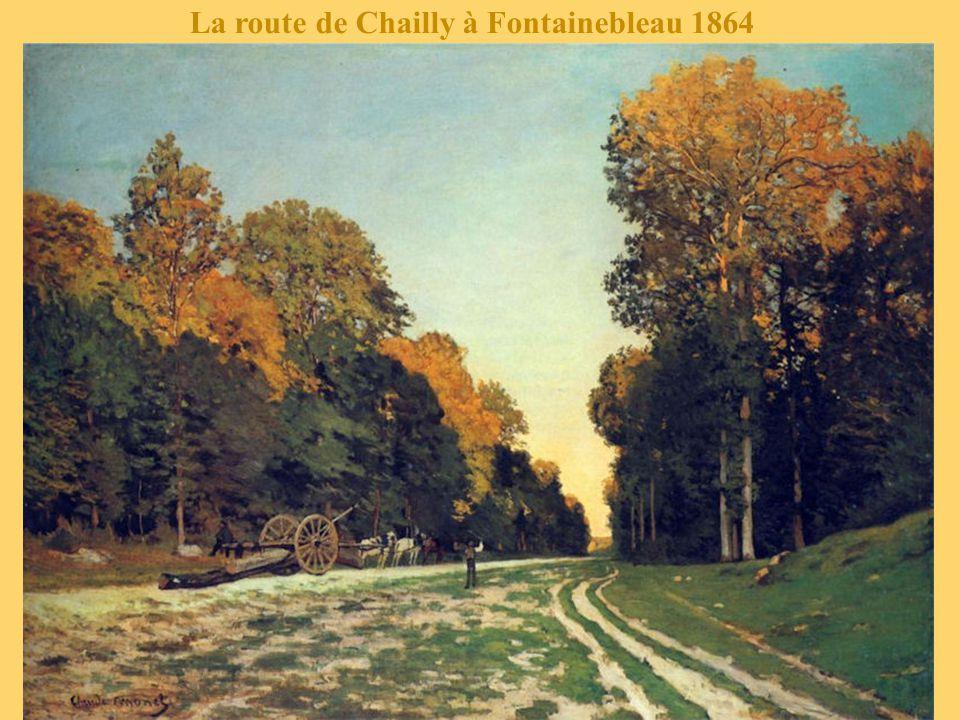 La route de Chailly à Fontainebleau 1864