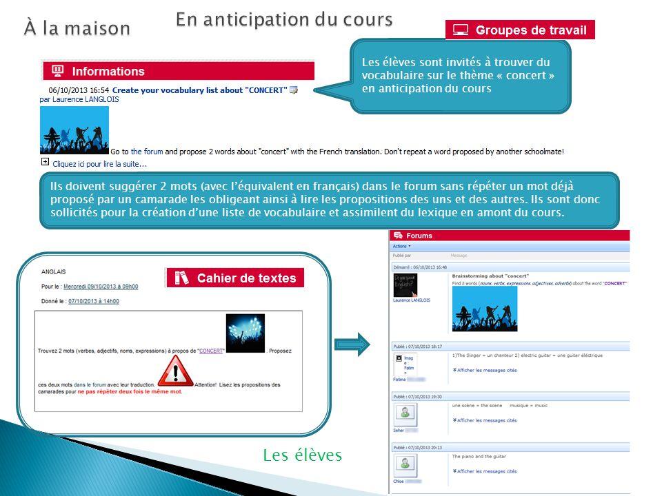 Avant, pendant et après les cours Laurence Langlois Académie de Nancy-Metz