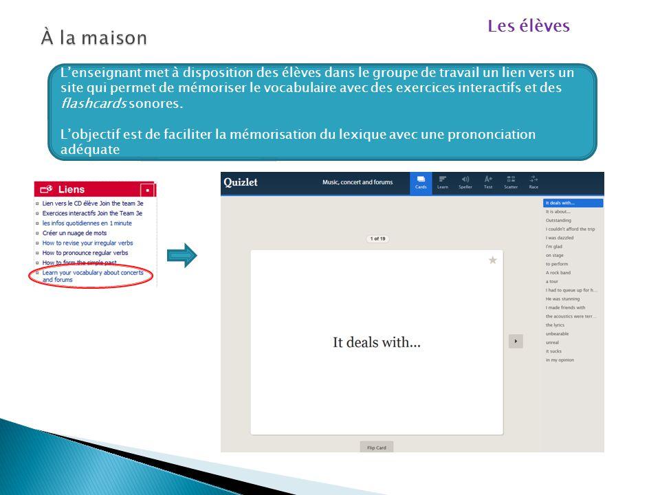 Séance 2 Exploitation du vocabulaire posté par les élèves sur les 2 murs virtuels  Mise en commun du vocabulaire posté en classe  Reformulation  Sa