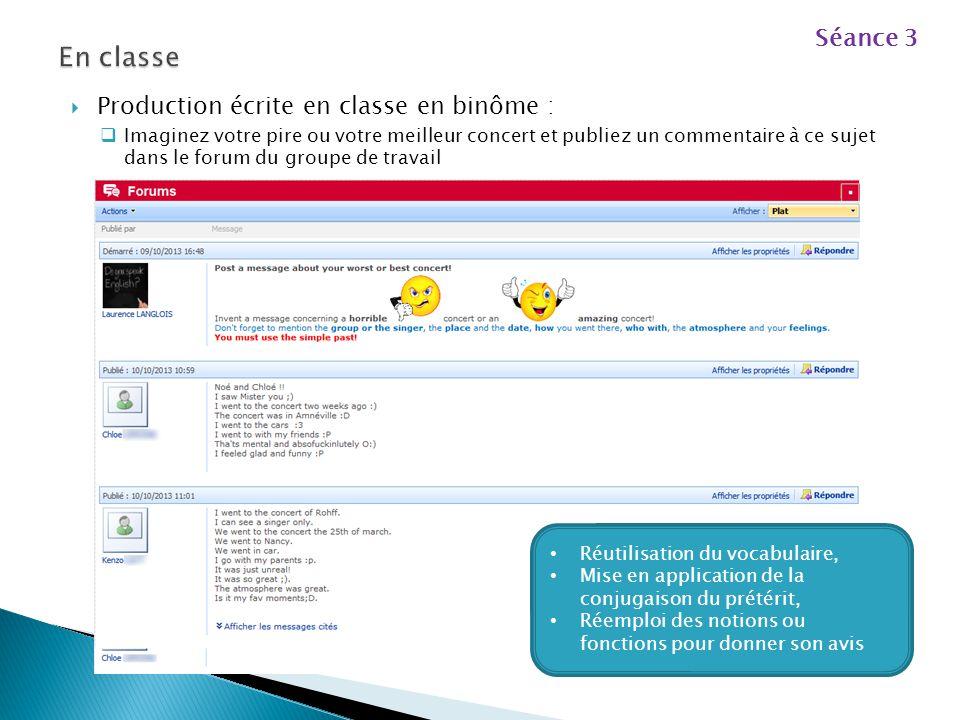 L'enseignant met à disposition des élèves dans le groupe de travail un lien vers un site qui permet de mémoriser le vocabulaire avec des exercices int