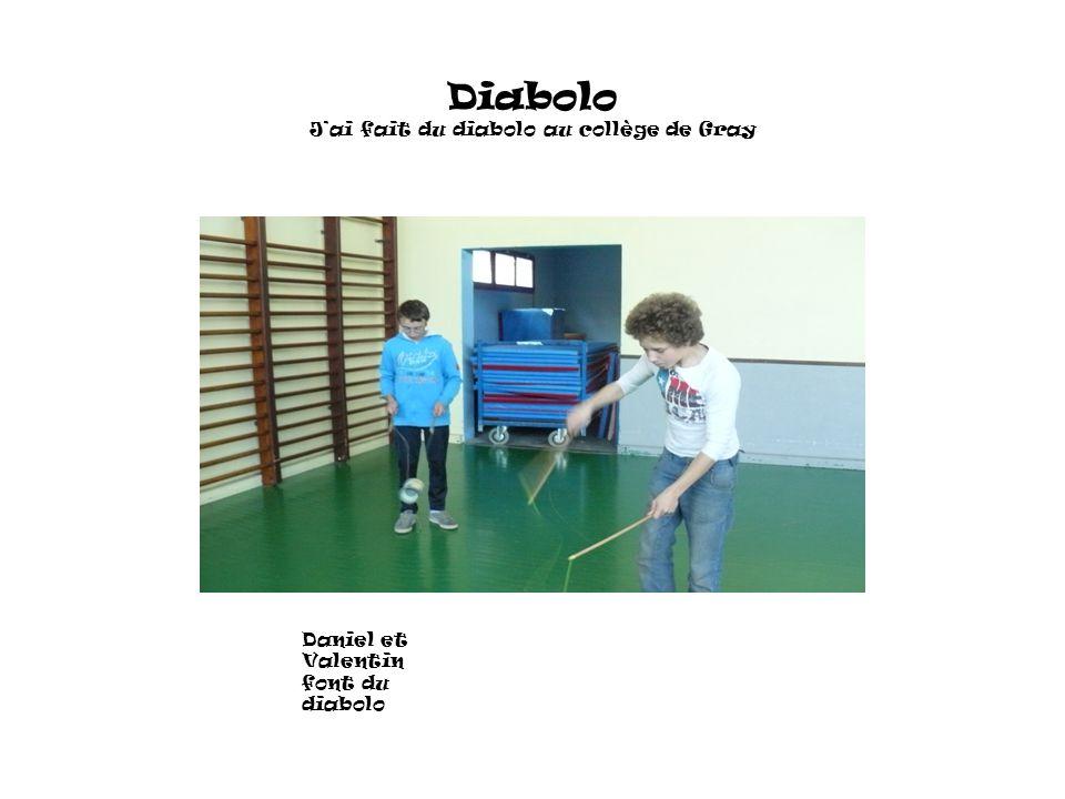 Diabolo J'ai fait du diabolo au collège de Gray Daniel et Valentin font du diabolo