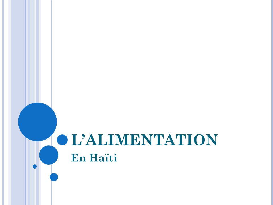 L'ALIMENTATION En Haïti