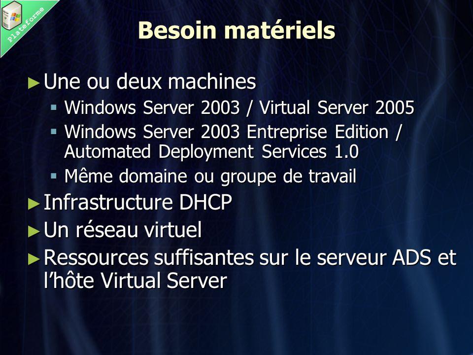 Plateforme VSMT n'est pas tout seul ► Leostream P2V - http://www.leostream.com/index.html http://www.leostream.com/index.html ► Platespin P2V for VS2005 - http://www.platespin.com/Products/PowerP 2V_Virtual_Server.aspx http://www.platespin.com/Products/PowerP 2V_Virtual_Server.aspx http://www.platespin.com/Products/PowerP 2V_Virtual_Server.aspx