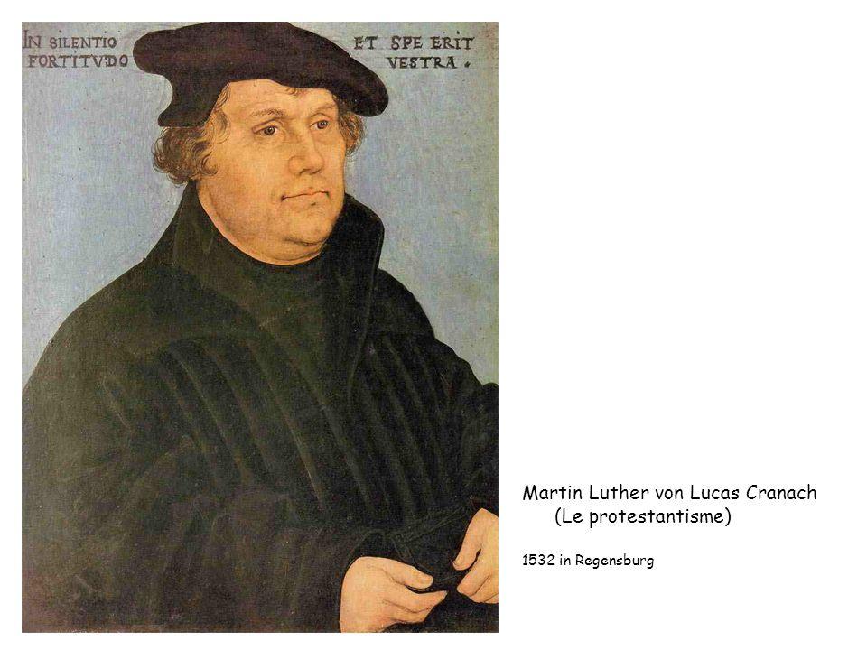 Martin Luther von Lucas Cranach (Le protestantisme) 1532 in Regensburg