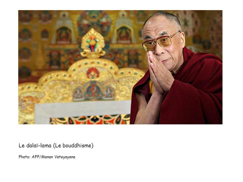 Le dalaï-lama (Le bouddhisme) Photo: AFP/Manan Vatsyayana