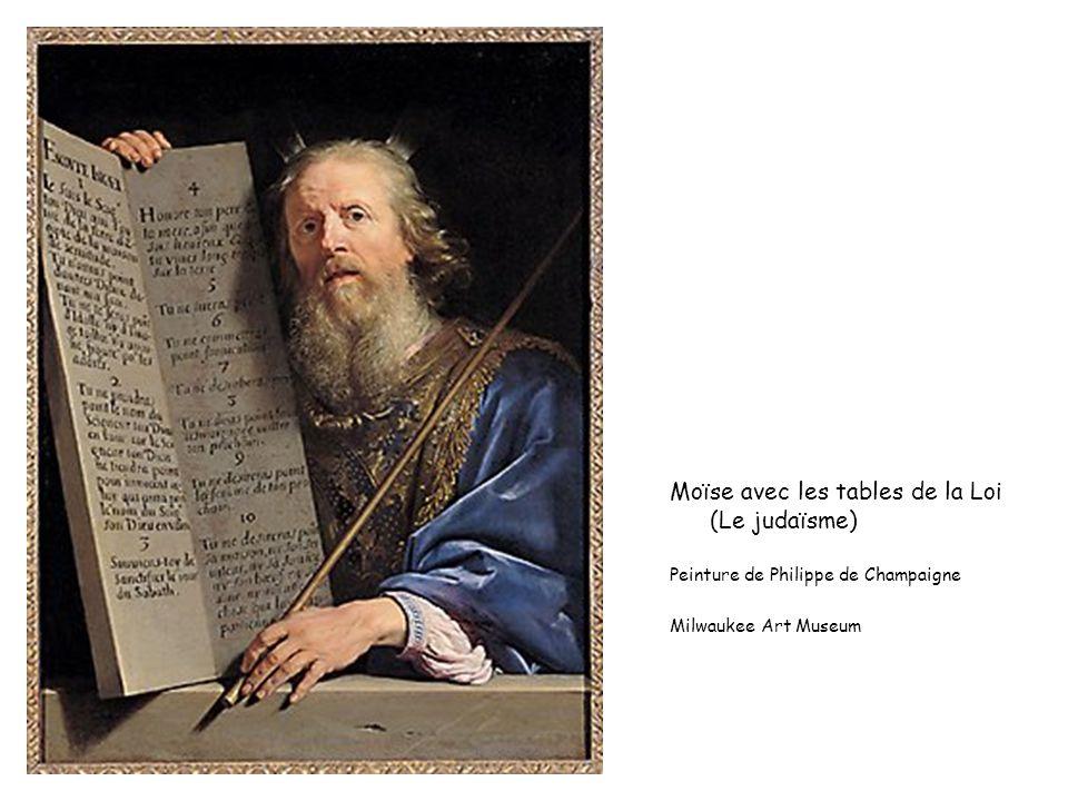 Moïse avec les tables de la Loi (Le judaïsme) Peinture de Philippe de Champaigne Milwaukee Art Museum