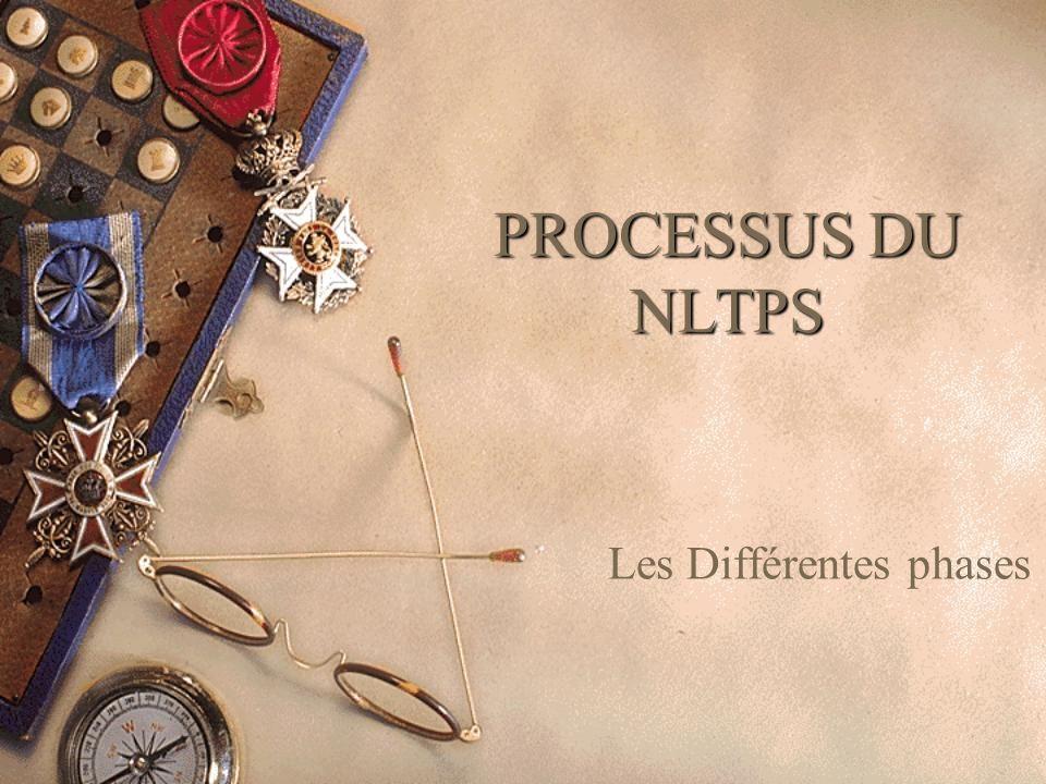 PROCESSUS DU NLTPS Les Différentes phases