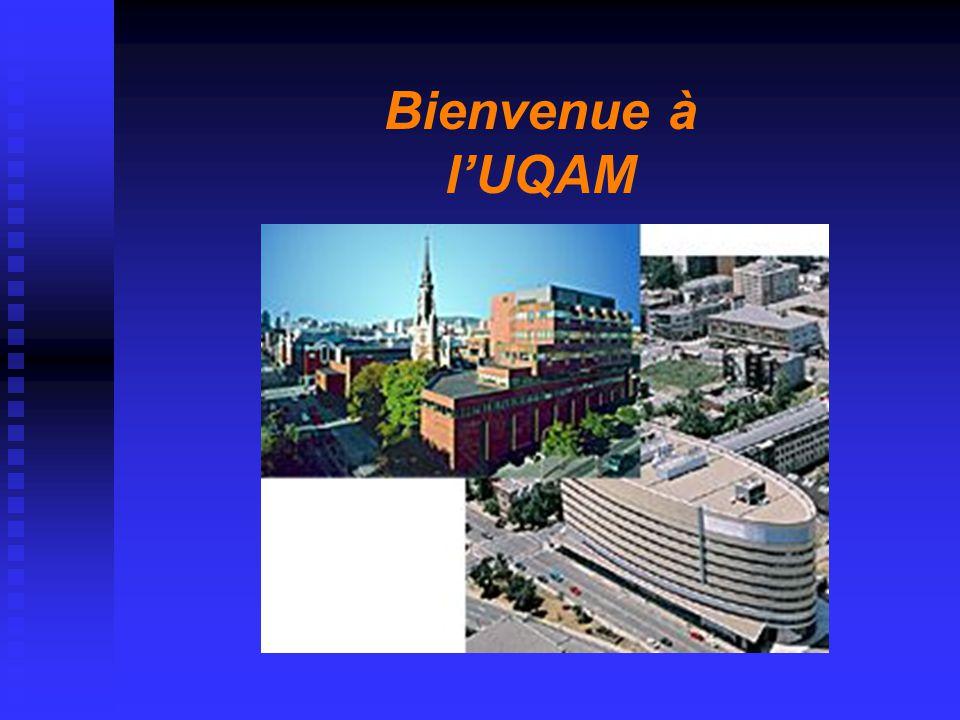 Bienvenue à l'UQAM
