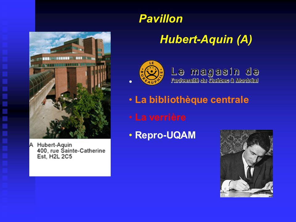 Pavillon Hubert-Aquin (A) • • La bibliothèque centrale • La verrière • Repro-UQAM
