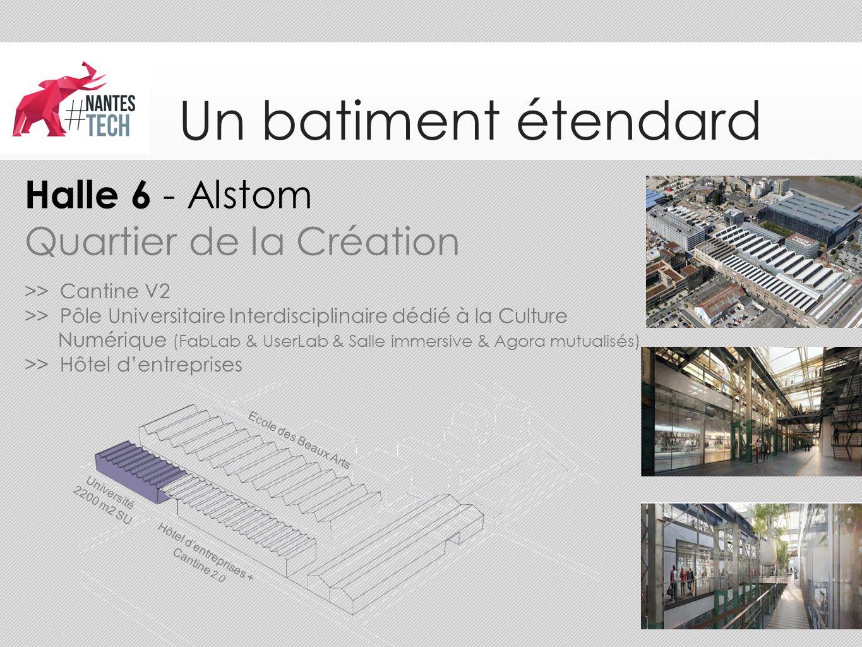 Un batiment étendard Hôtel d'entreprises + Cantine 2.0 Université 2200 m2 SU >> Cantine V2 >> Pôle Universitaire Interdisciplinaire dédié à la Culture