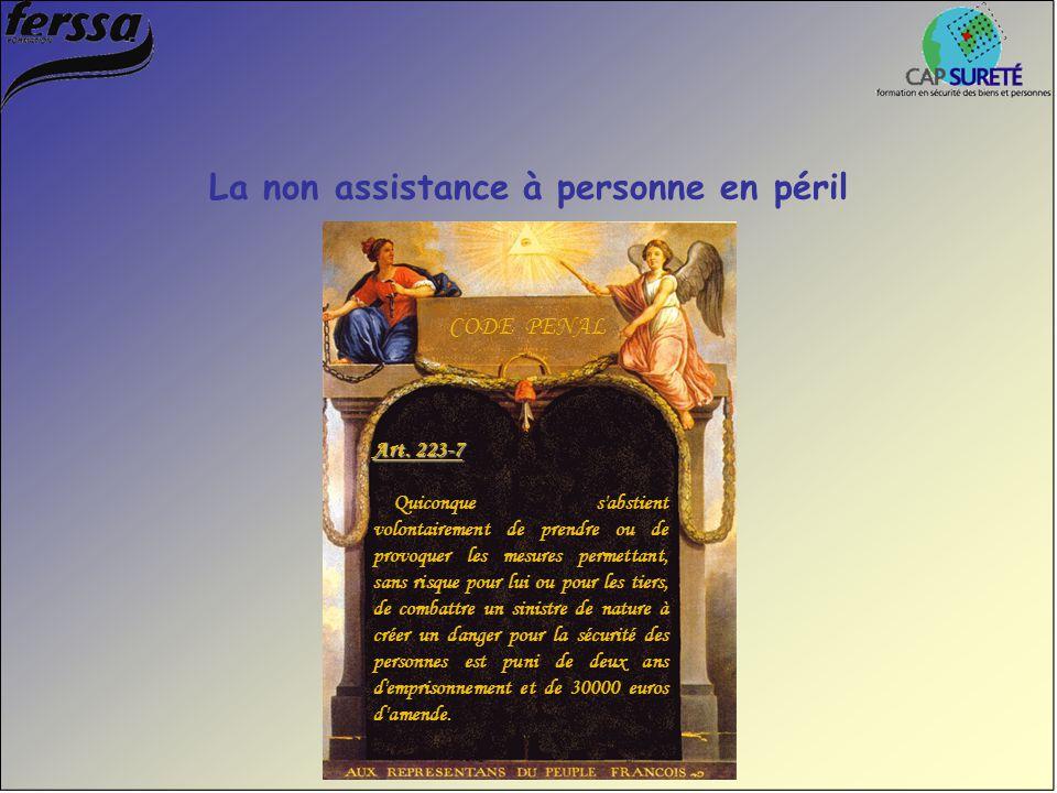 Art. 223-7 Quiconque s'abstient volontairement de prendre ou de provoquer les mesures permettant, sans risque pour lui ou pour les tiers, de combattre