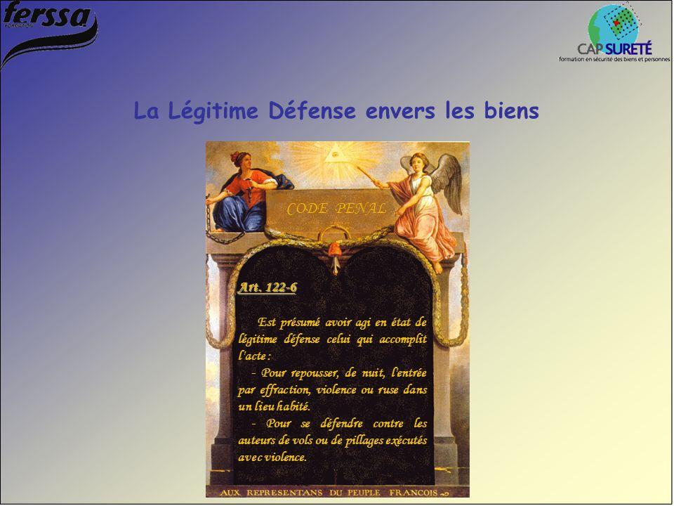 Art. 122-6 Est présumé avoir agi en état de légitime défense celui qui accomplit l'acte : - Pour repousser, de nuit, l'entrée par effraction, violence