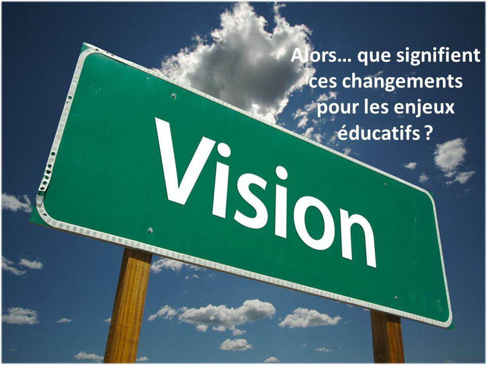 13 Alors… que signifient ces changements pour les enjeux éducatifs ?