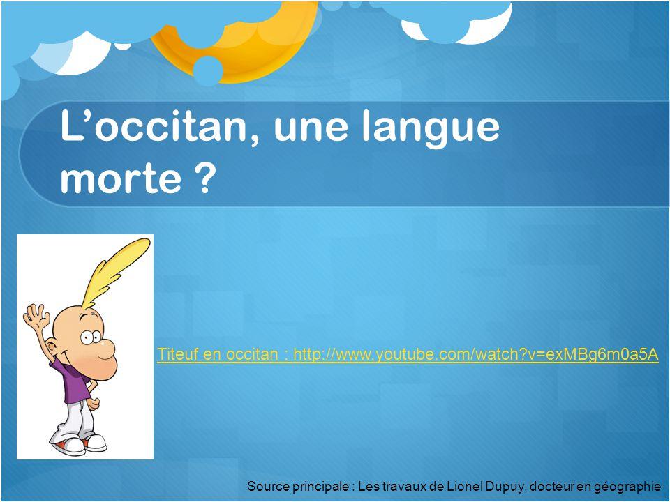 L'occitan, une langue morte .