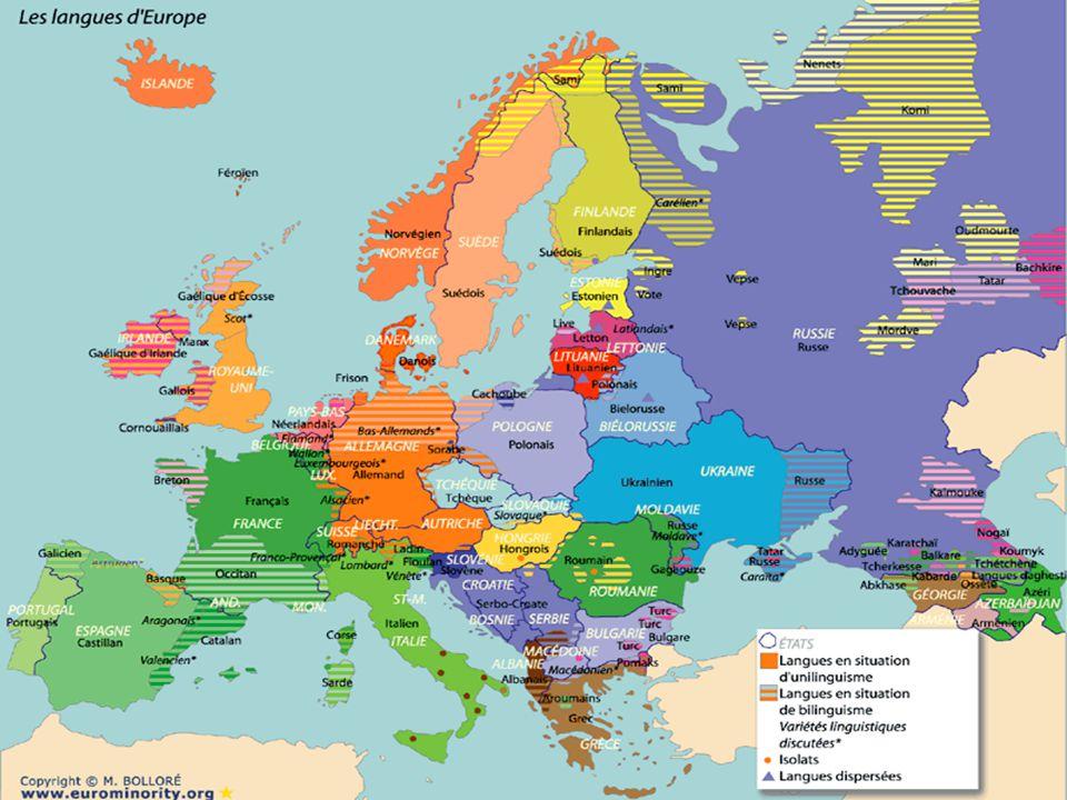 Au cœur de l'Europe… ComplexeOccitano-catalan Géographie des langues romanes