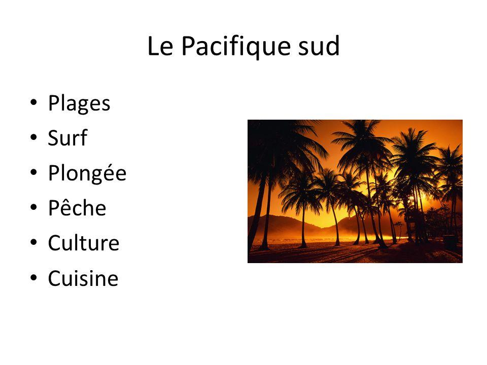 Le Pacifique sud • Plages • Surf • Plongée • Pêche • Culture • Cuisine