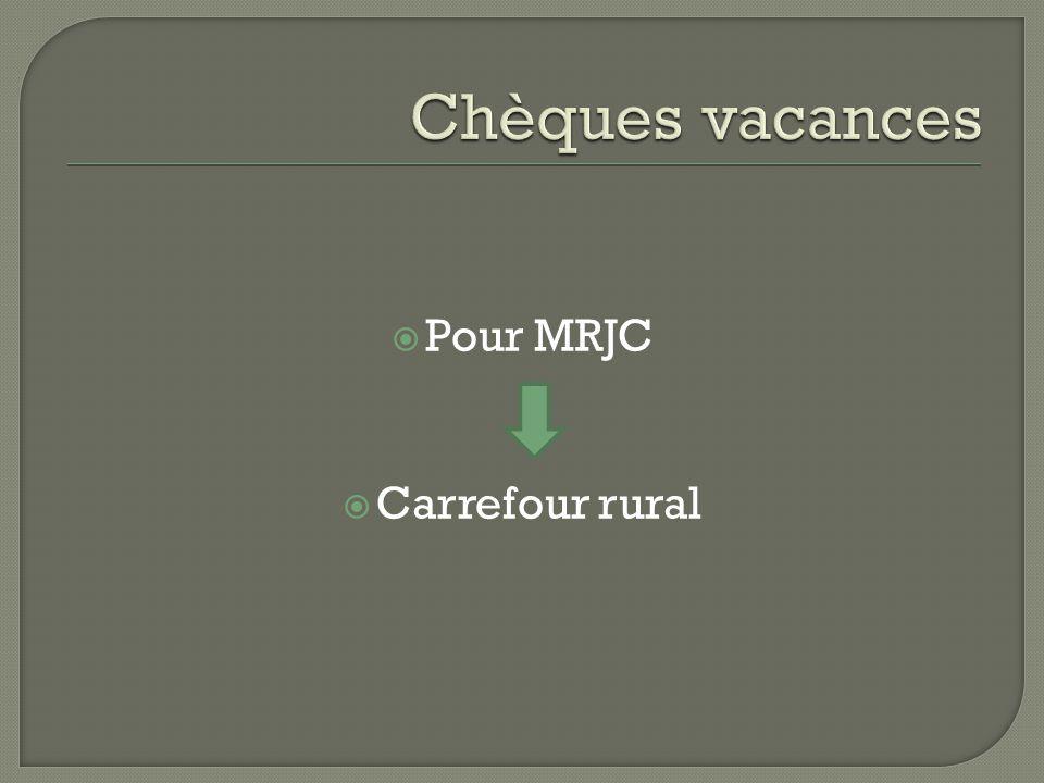 Pour MRJC  Carrefour rural
