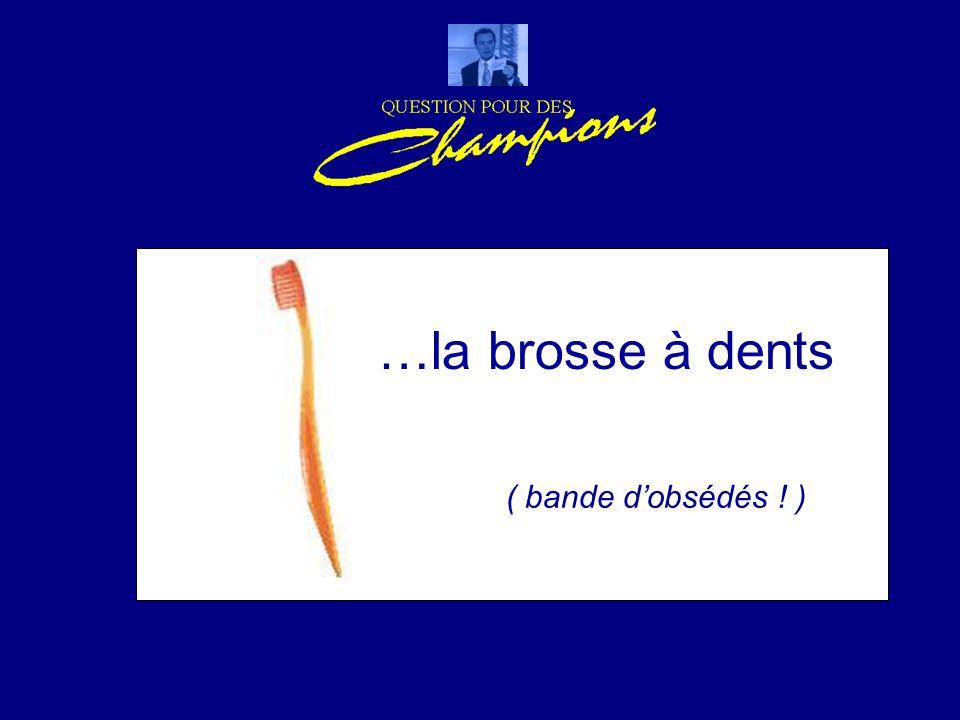 …la brosse à dents ( bande d'obsédés ! )