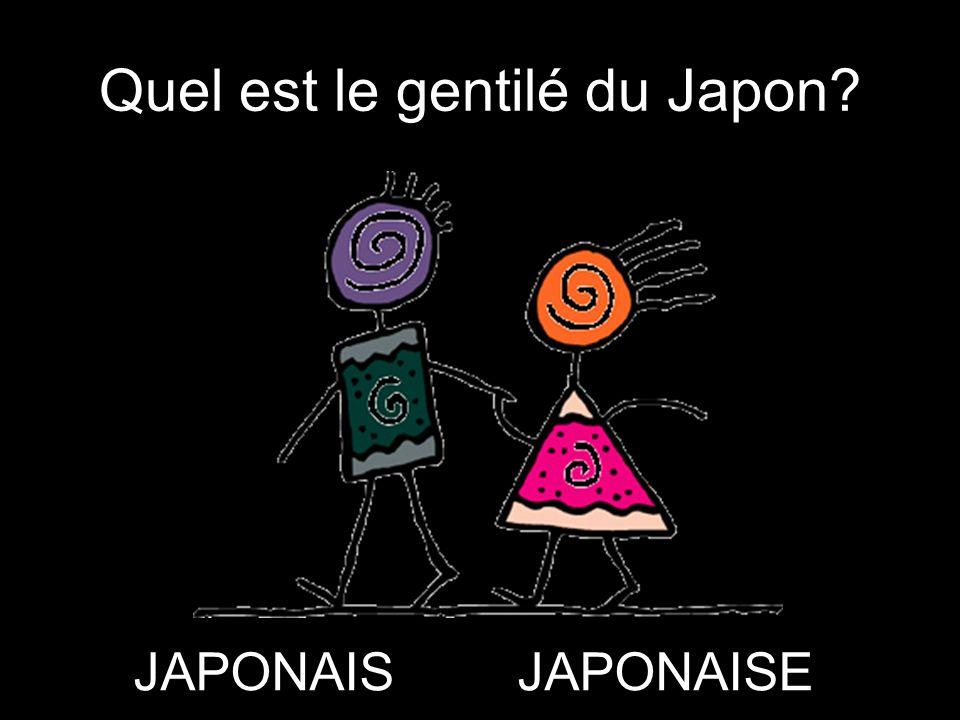 Quel est le gentilé du Japon? JAPONAISJAPONAISE