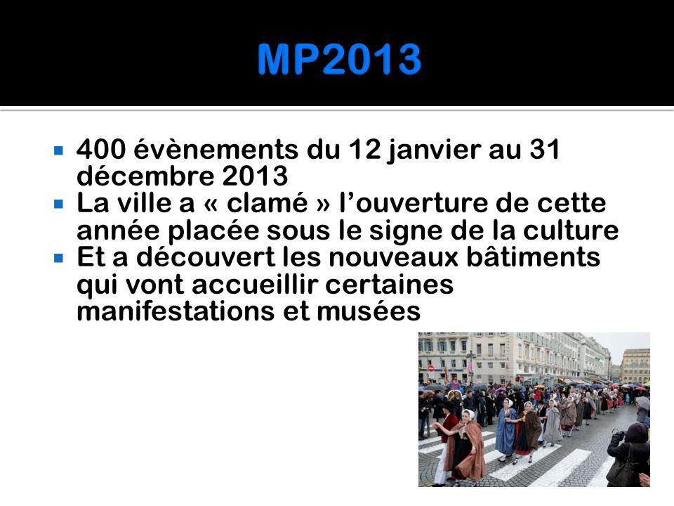  400 évènements du 12 janvier au 31 décembre 2013  La ville a « clamé » l'ouverture de cette année placée sous le signe de la culture  Et a découve